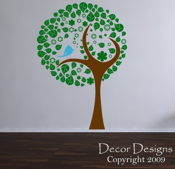 Birdie Tree Wall Decal - Decor Designs Decals - 1