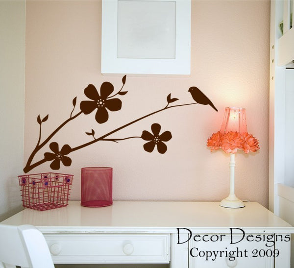 Bird Branch Wall Decal - Decor Designs Decals - 1