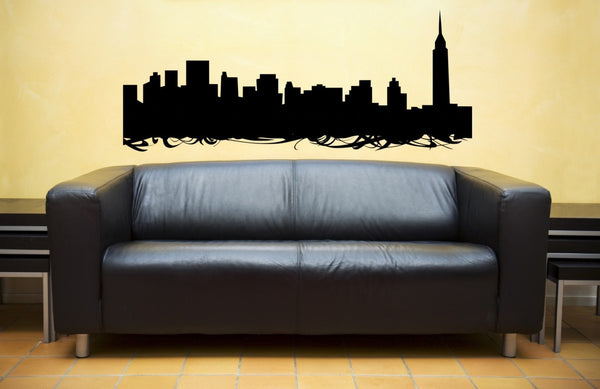 Nyc Skyline Vinyl Wall Decal Sticker - Decor Designs Decals - 1