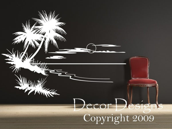 Palm Tree Vinyl Wall Decal Sticker - Decor Designs Decals - 1
