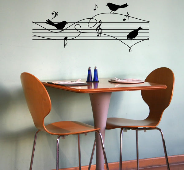 Birds On Music Notes Wall Decal - Decor Designs Decals - 1