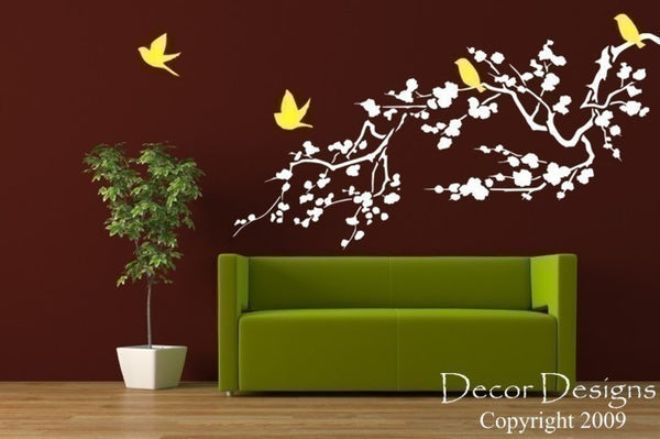 Cherry Blossom Branch Wall Decal - Decor Designs Decals - 1
