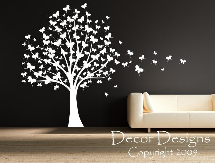 95b0bf93ab Butterfly Tree Wall Decal - Decor Designs Decals - 1 ...