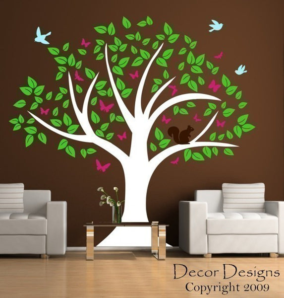Wildlife Tree  Sticker Vinyl Wall Decal Sticker - Decor Designs Decals - 1