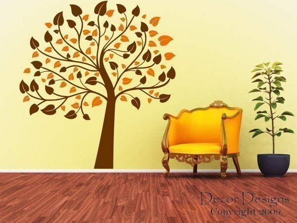 Two Color 6 Foot Nursery Tree Vinyl Wall Decal Sticker - Decor Designs Decals - 1