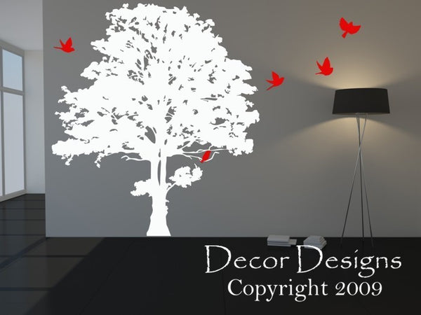 Maple Tree Wall Sticker Design- by Decor Designs Decals, Forest Scene Decal | Home decor, tree wall decal | Tree with Birds Set | Tree wall mural - Tree Decals - Decor Designs Decals - 1