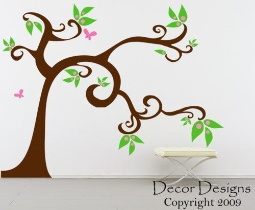 Sweet Pea Large Tree Vinyl Wall Decal Sticker - Decor Designs Decals - 1