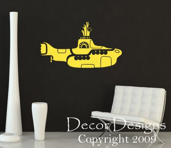 Yellow Submarine Vinyl Wall Decal Sticker - Decor Designs Decals - 1