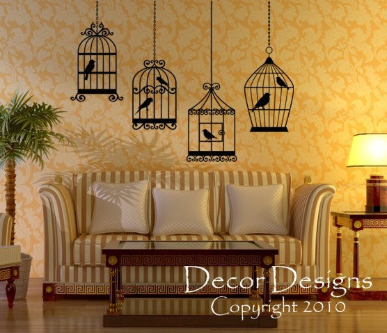 Birdcages Wall Decal - Decor Designs Decals - 1