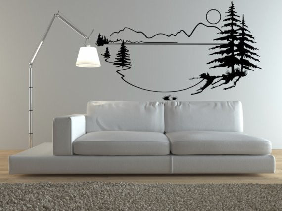 Lakehouse Vinyl Wall Decal Sticker - Decor Designs Decals - 1