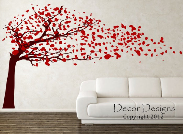 Blowing Blossom Tree Wall Decal - Decor Designs Decals - 1