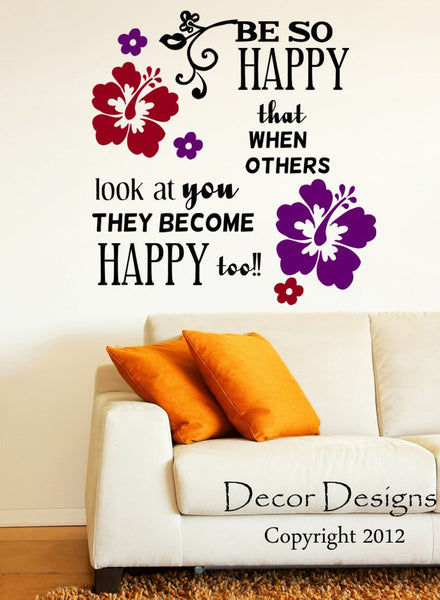 Be So Happy Wall Decal - Decor Designs Decals - 1