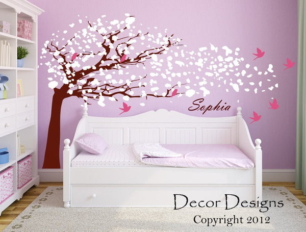 Blowing Tree Wall Decal - Decor Designs Decals - 1