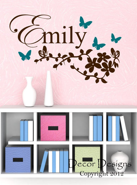 Butterfly Branch Wall Decal - Decor Designs Decals - 1