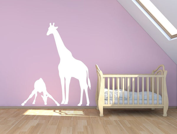 Mom And Baby Giraffe Vinyl Wall Decal Sticker - Decor Designs Decals - 1