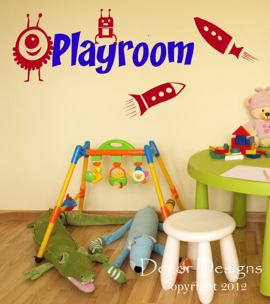 Playroom Vinyl Wall Decal Sticker - Decor Designs Decals - 1