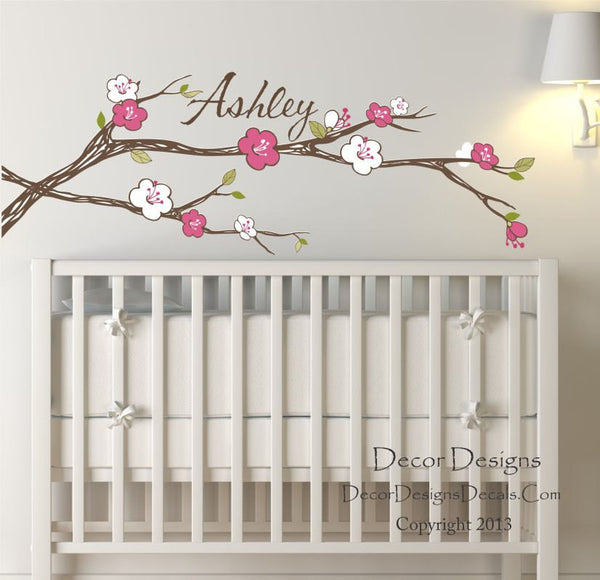 Girl's Name Blossom Wall Decal - Decor Designs Decals - 1