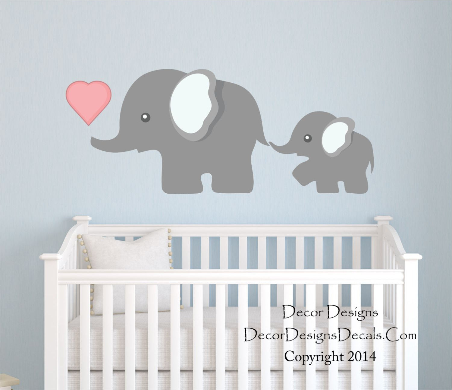 Elephant Wall Decal, By Decor Designs Decals, Nursery Wall Decal, Mom And  Baby