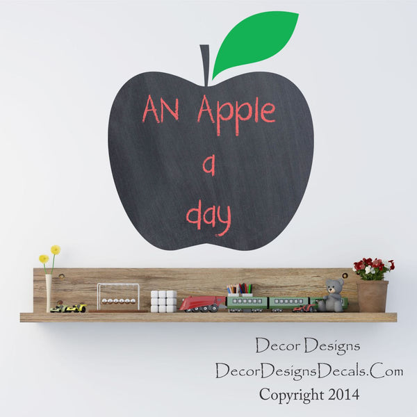 Apple Chalkboard Wall Decal - Decor Designs Decals