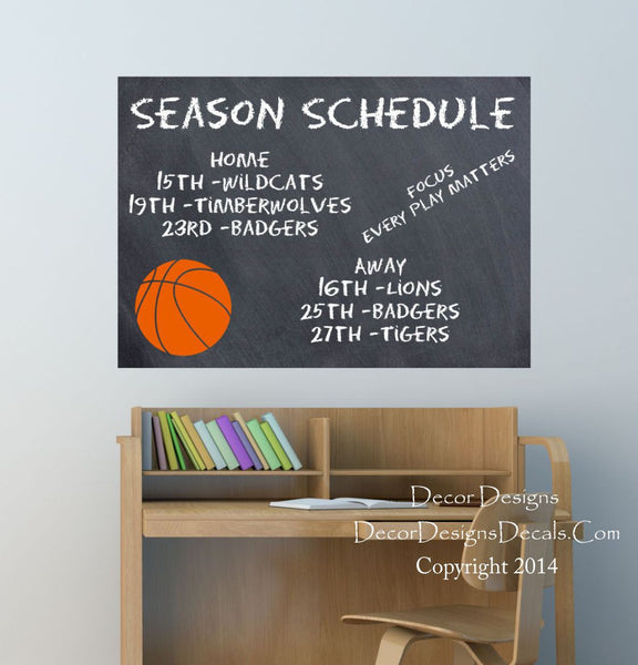 Basketball Chalkboard Decal - Decor Designs Decals