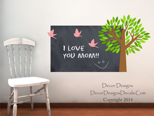 Tree Chalkboard Decal - Decor Designs Decals