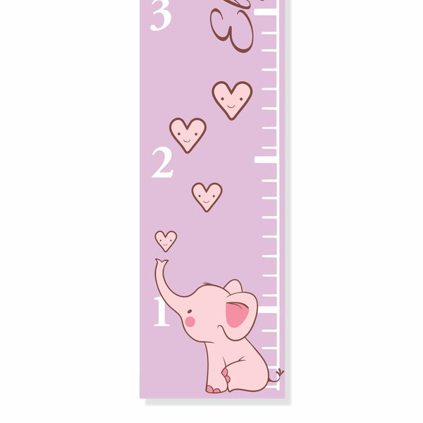 Elephant Canvas Growth Chart - Decor Designs Decals - 1