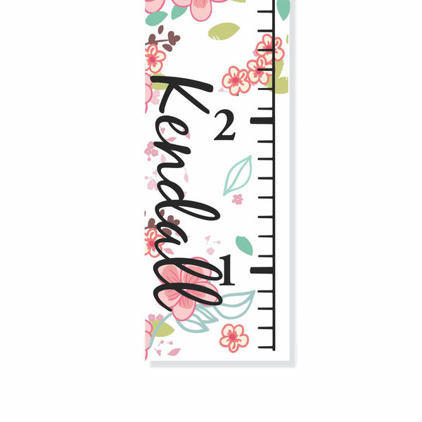 Beautiful Birds Canvas Growth Chart - Decor Designs Decals - 1