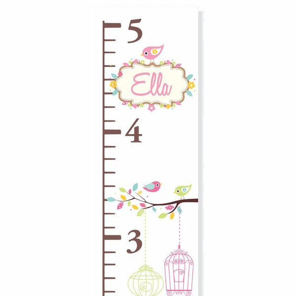 Bird Cages Canvas Growth Chart - Decor Designs Decals - 1