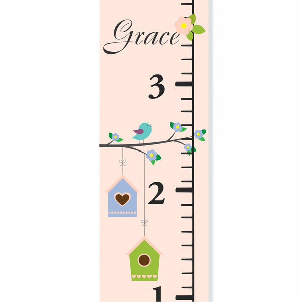 Birdie Branch Canvas Growth Chart - Decor Designs Decals - 1