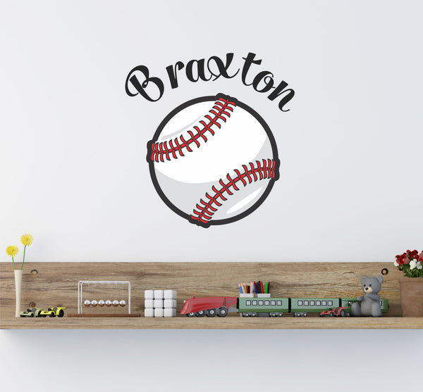 Baseball Name Wall Decal - Decor Designs Decals - 1