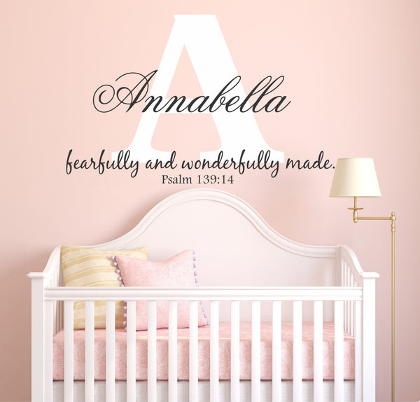 Fearfully and Wonderfully Made Wall Decal - Decor Designs Decals - 1