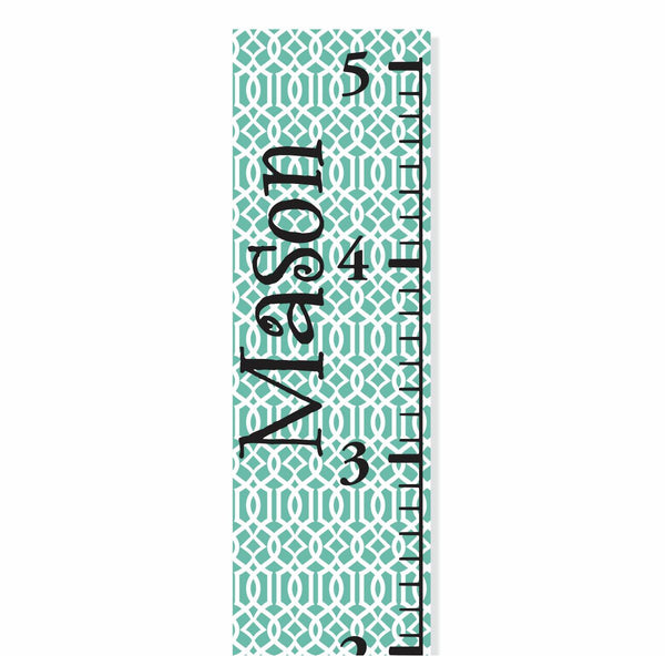Modern Blue Canvas Growth Chart - Decor Designs Decals - 1