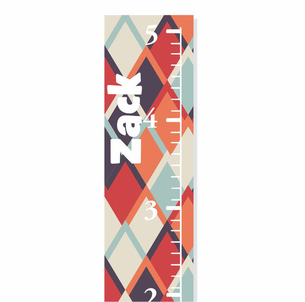 Argyle Canvas Growth Chart - Decor Designs Decals - 1
