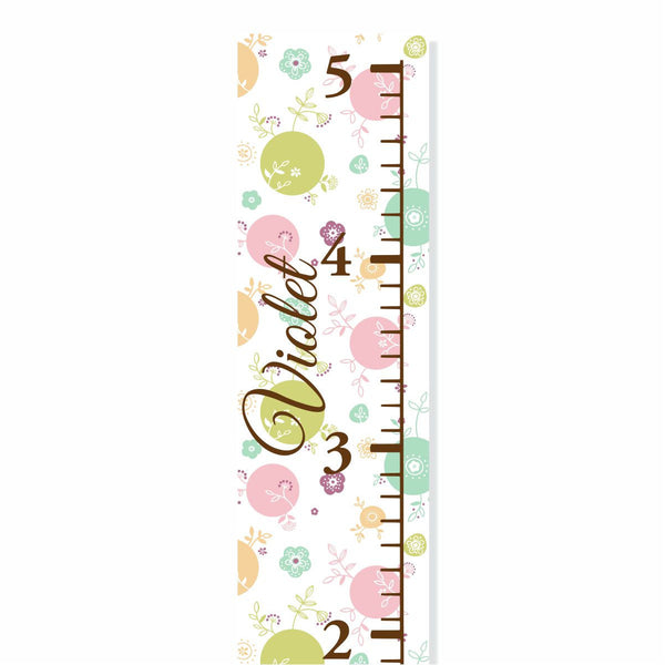 Polka Dots Canvas Growth Chart - Decor Designs Decals - 1
