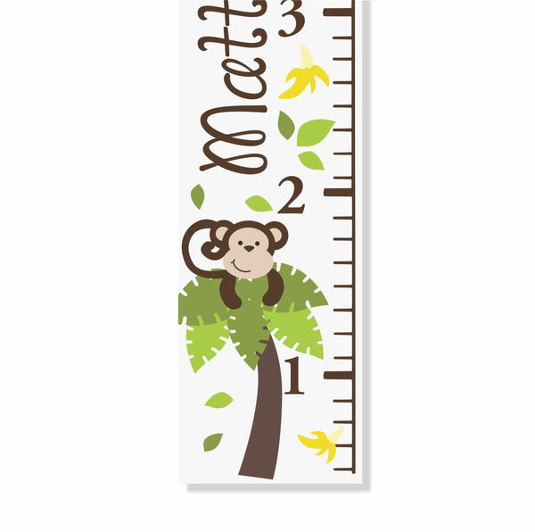 Monkey Canvas Growth Chart - Decor Designs Decals - 1