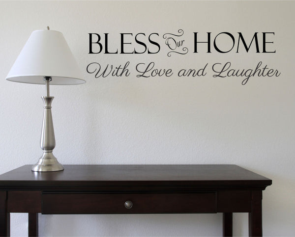 Bless Our Home Wall Decal - Decor Designs Decals - 1