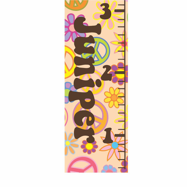 Peace Sign Canvas Growth Chart - Decor Designs Decals - 1
