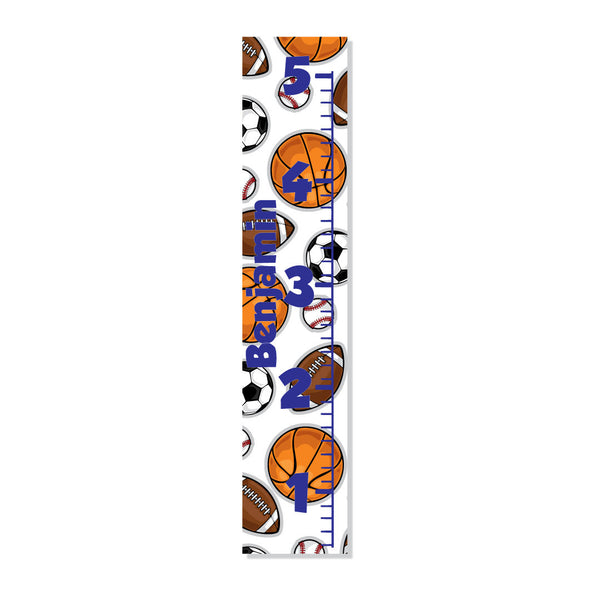 Sports Canvas Growth Chart - Decor Designs Decals - 1