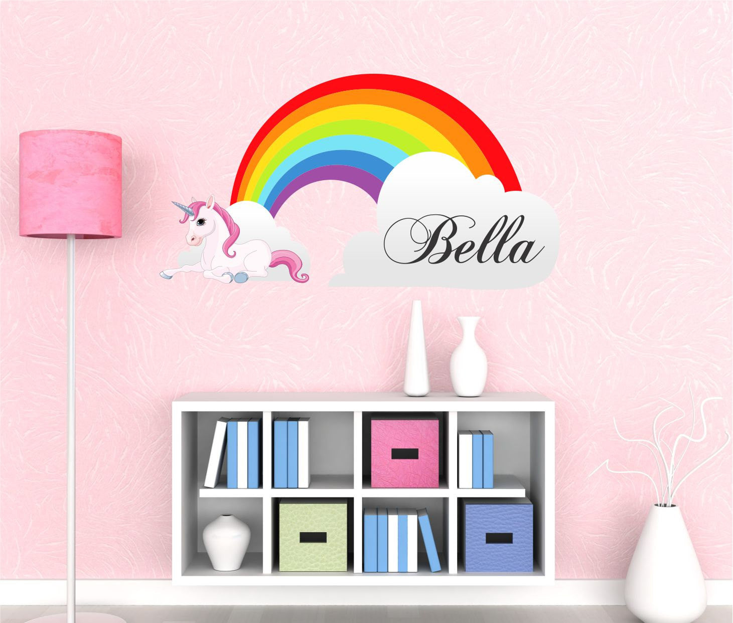 Girls Name Rainbow Wall Decal  By Decor Designs Decals, Unicorn Decals, Rainbow  Decals
