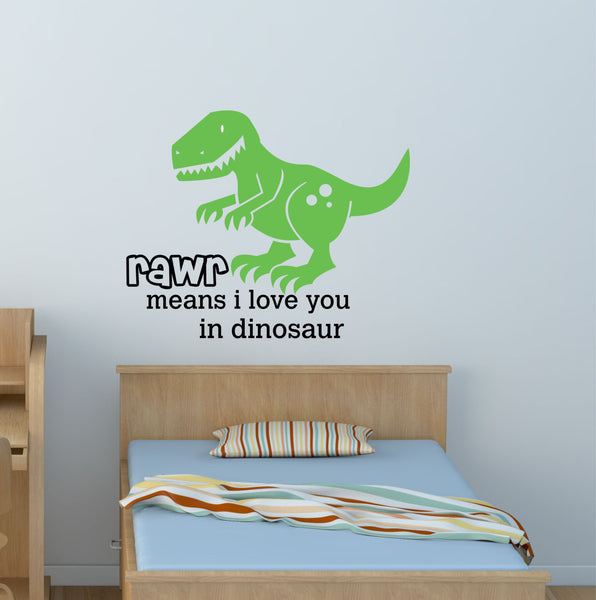 Dinosaur Rawr Love Wall Decal - Decor Designs Decals - 1