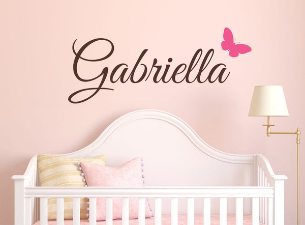 Butterfly Name Wall Decal - Decor Designs Decals - 1