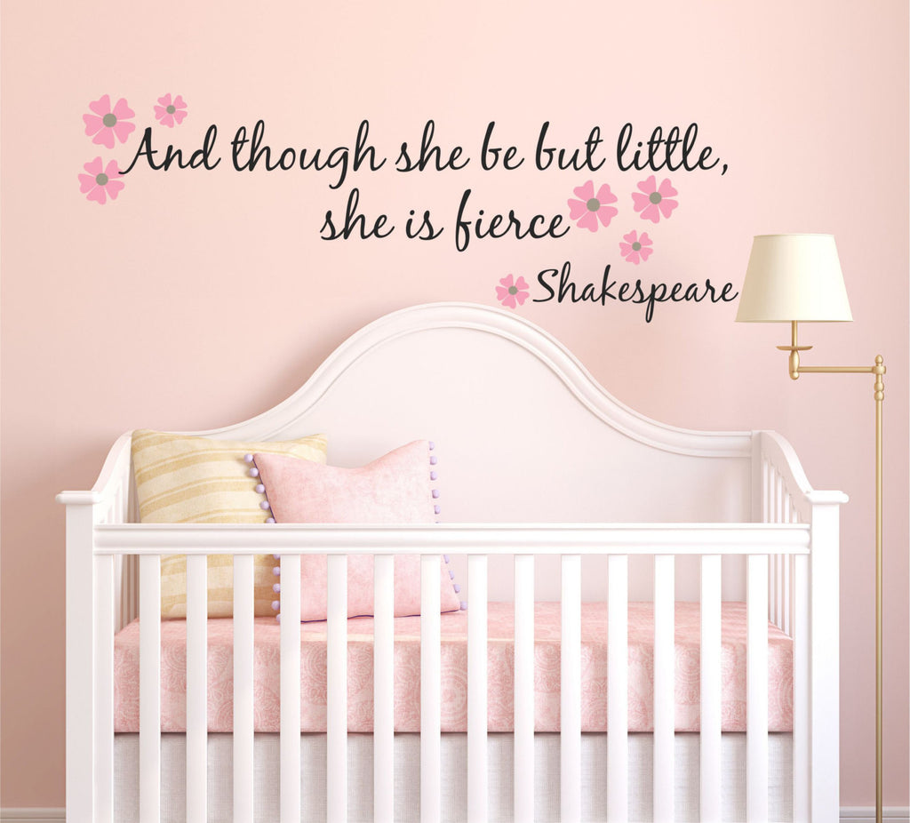 Baby Girl On The Way Quotes: She Is Fierce Wall Decal