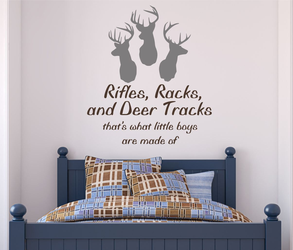 Rifles, Racks, And Deer Tracks Decal  By Decor Designs Decals, Hunting Decal