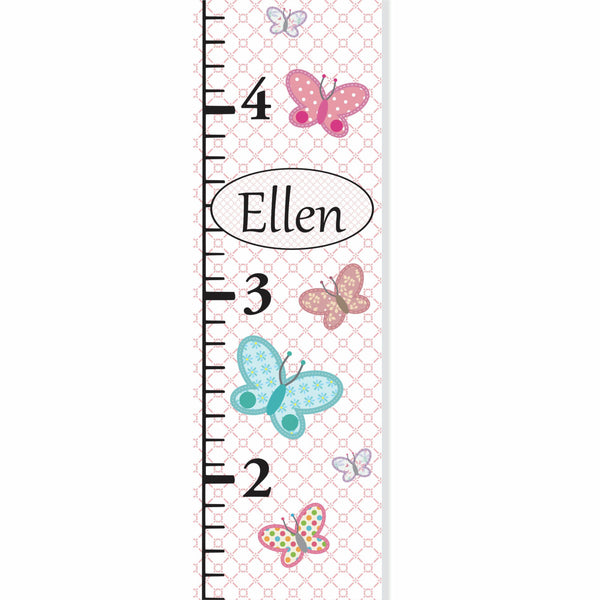Butterflies Canvas Growth Chart - Decor Designs Decals - 1
