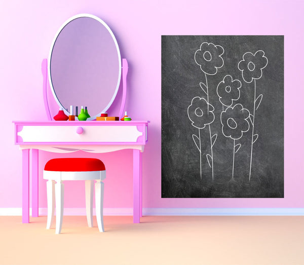 Large Rectangle Chalkboard Vinyl Wall Decal Sticker - Decor Designs Decals