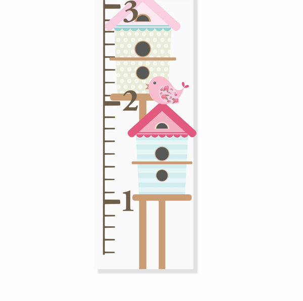Bird Houses Canvas Growth Chart - Decor Designs Decals - 1
