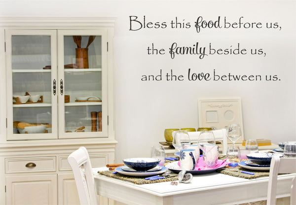 bless this food wall decal decor designs decals 1 - Wall Design Decals