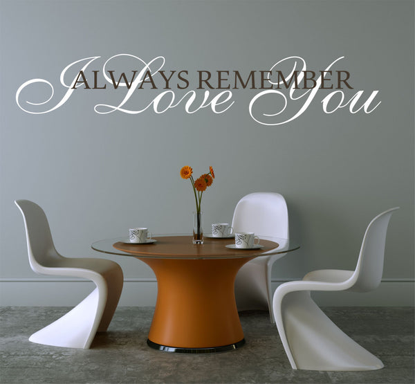 I Love You  Master Bedroom Wall Decal - Vinyl Wall Quote Decals - Wedding Gift Decal - Vinyl Lettering - Love Quote Decals - Wedding Quotes - Decor Designs Decals - 1