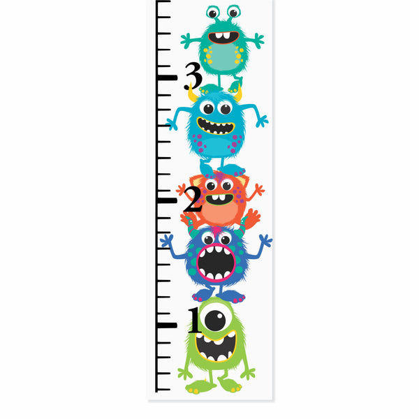 Little Monsters Canvas Growth Chart - Decor Designs Decals - 1