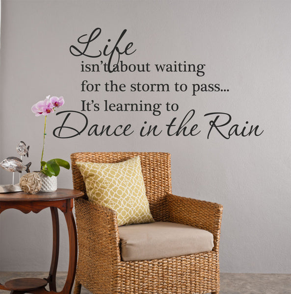 Life Isn't About Waiting Wall Decal• by Decor Designs Decals, Home Decor • Inspirational Quote • Wall Stickers • Wall Decals • Wall Decals • Wall Decor U20 - Decor Designs Decals - 1